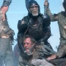 Thade (Tim Roth) leads an army of apes into battle against rebellious humans in 20th Century Fox's Planet Of The Apes - 2001 - 400 x 274