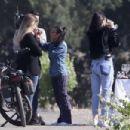 Kendall, Khloe and Kourtney at a vineyard in Santa Barbara