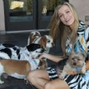 Joanna Krupa With Her Dogs out in Los Angeles - 454 x 359