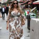 Kelly Brook in Long Dress – Out in London