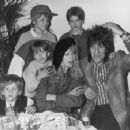 Ronnie Wood and Jo Wood with their family