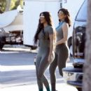 Kylie Jenner and Kim Kardashian – Shooting for Yeezy in Calabasas