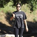 Lucy Hale in Leggings – Out for a hike in Hollywood Hills