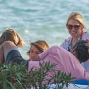 Valeria Mazza – Enjoys a Holiday With Her Family on the Beach in Marbella 8/11/2016 - 454 x 367