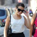 Lea Michele: Outside the versailles castle