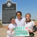 Amber Heard on a rally in support of refugee children and families seeking asylum in Tornillo