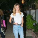 Bar Refaeli in Jeans at a friend's birthday at Kyoto in Herzliya