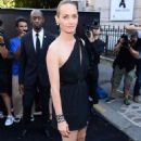Amber Valletta – Arriving at Vogue Dinner Party in Paris