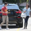 Selena Gomez and actor David Henrie out on a lunch date at Kabuki in Hollywood, California on June 8, 2013 - 454 x 339