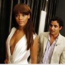 Rihanna - Models A Dress By Zac Posen During A Fitting (August 28, 2007)