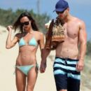 Kellan Lutz and Sharni Vinson in Sydney December 23,2012
