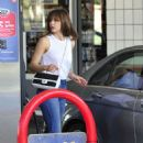 Katharine McPhee Pumping Gas In Beverly Hills