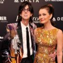 Singer/musician Ric Ocasek and model Paulina Poriskova attend The Hollywood Reporters 35 Most Powerful People In Media at Four Seasons Grill Room on April 10, 2013 in New York City.
