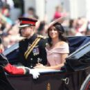 Prince Harry Windsor and Meghan Markle attend the 2018 Trooping the Colour ceremony - 454 x 295