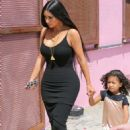 Kim Kardashian – Arriving at baby shower in Los Angeles