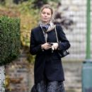Eva Herzigova Walks Around Chelsea
