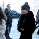 Vanessa Hudgens out shopping at Bon Marche and has lunch at Relais Saint Germain in Paris Feb.11, 2012