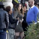 "Khloe Kardashian: filmed scenes for an upcoming episode of ""Real Husbands of Hollywood"""