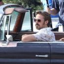 """Ryan Gosling continues to film scenes for the new movie """"The Nice Guys"""" on February 3, 2015 in Los Angeles, California"""