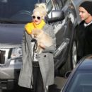 Gwen Stefani and Gavin Rossdale look downcast as they meet up outside son Zuma's school in LA