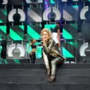Rita Ora performs on stage at the