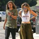Paris Jackson at Starbucks with a friend in Los Angeles - 454 x 681