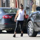 Lea Michele is seen out getting juice after a workout on March 16, 2017