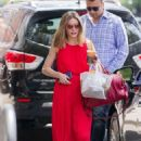 Olivia Palermo in Red Long Dress Out in New York - 454 x 644
