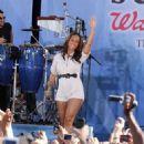 Alicia Keys Bumps Around the GMA Stage