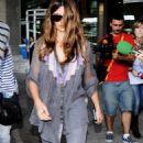 Penelope Cruz Arrives At Barajas Airport In Madrid May 24, 2010