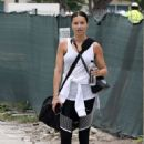 Adriana Lima in Spandex – Leaves a gym in Miami