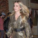 Annabelle Wallis in Golden Dress – Leaving hotel in Soho - 454 x 681