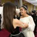 Penélope Cruz and Salma Hayek At The 92nd Annual Academy Awards - Arrivals - 454 x 331