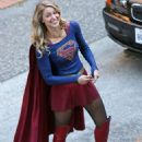 """Melissa Benoist – On the Set of """"Supergirl"""" in Vancouver 09/28/2017"""