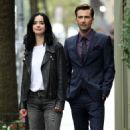 Krysten Ritter and David Tennant – Filming 'Jessica Jones' in New York