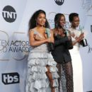 Angela Bassett, Lupita Nyong'o, and Danai Gurira At The 25th Annual Screen Actors Guild Awards (2019) - 400 x 600