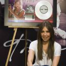 "Thalia Poses For Photographers During The Presentation Of Her New Disc ""Primera Fila"" In Mexico City, April 21 2010"