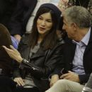 Gemma Chan at Los Angeles Lakers Vs The Clippers Game in Los Angeles - 454 x 384