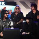 Nikki Sixx of Mötley Crüe speaks during the press conference for THE STADIUM TOUR DEF LEPPARD - MOTLEY CRUE - POISON at SiriusXM Studios on December 04, 2019 in Los Angeles, California - 454 x 321