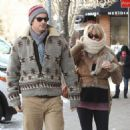 Goldie Hawn and her son Oliver Hudson bundle up to keep warm while shopping in Aspen, Colorado on December 22, 2012