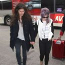 Kelly Osbourne And Matthew Mosshart Departing On A Flight At LAX