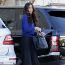 Terri Seymour arriving at a  studio in Van Nuys, California on January 08, 2016 - 402 x 600