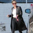 Ashley Benson Walking Her Dog In Hollywood
