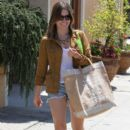 Sophia Bush at a yoga class in West Hollywood, California on July 31, 2012. Afterwards she stops to do a little shopping
