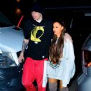 Ariana Grande and Pete Davidson – Out for Dinner in New York City - 454 x 681