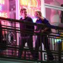 Harry Styles and Camille Rowe leaving a restaurant in Los Angeles - 454 x 449