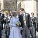 Ellie Goulding at her wedding to to Caspar Jopling in York