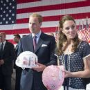 """The Duke And Duchess Of Cambridge Attend The Mission Serve """"Hiring Our Heroes Los Angeles"""" Job Fair"""