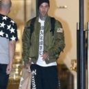 Travis Barker doing some last minute Christmas shopping at Barneys New York in Beverly Hills, California on December 21, 2014 - 394 x 594