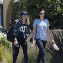 Nina Dobrev in Jeans out in LA - 454 x 569